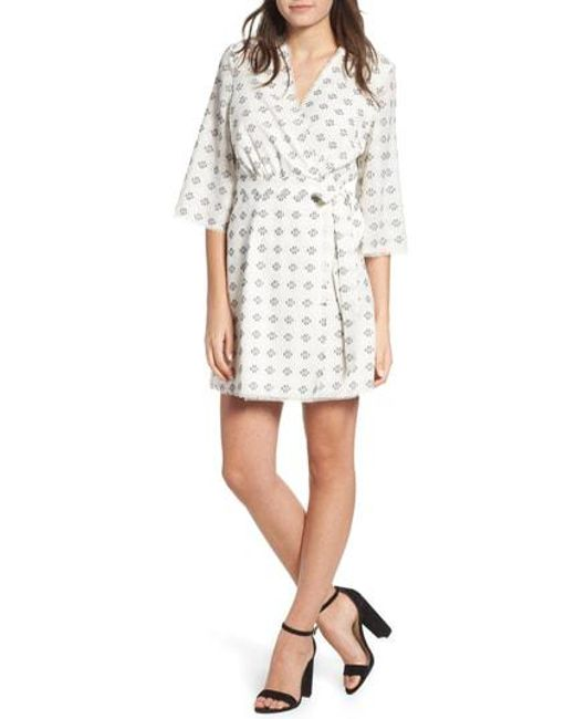The East Order - White Ruth Wrap Minidress - Lyst