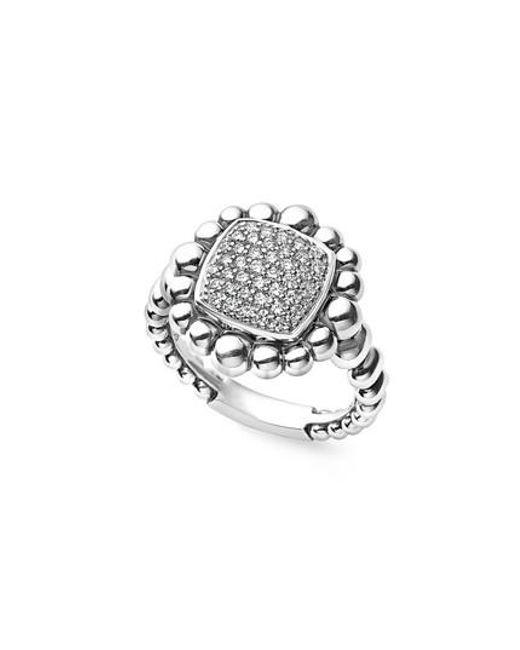 Lagos   Metallic Caviar Spark Square Diamond Ring   Lyst