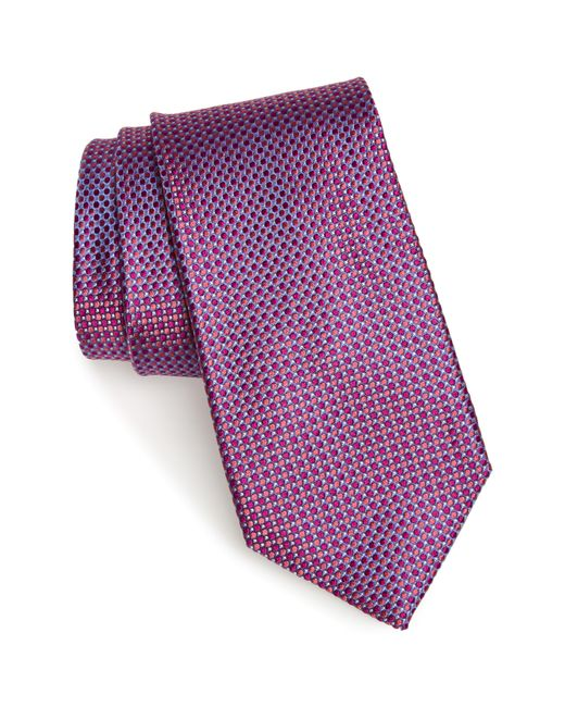 Nordstrom - Purple Soler Solid Silk Tie for Men - Lyst