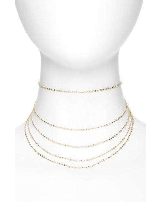 Panacea - Metallic Five-strand Choker - Lyst