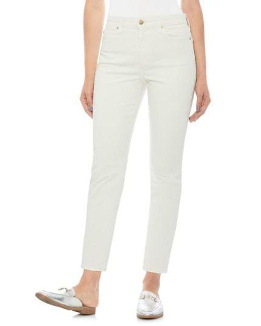 Joe's - White Smith High Waist Ankle Slim Jeans - Lyst