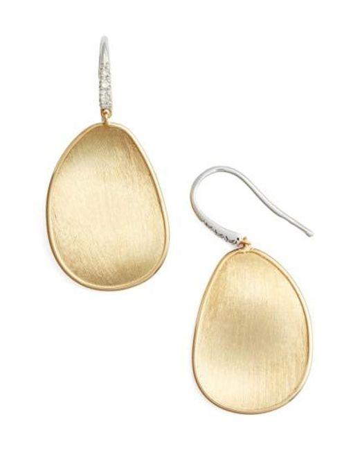 Marco Bicego | Metallic Lunaria Diamond & Gold Drop Earrings | Lyst