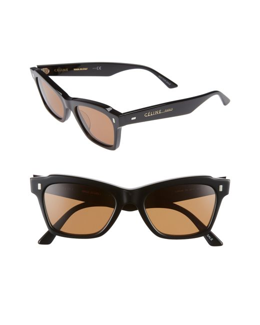Céline - Black 52mm Rectangle Cat Eye Sunglasses - Lyst