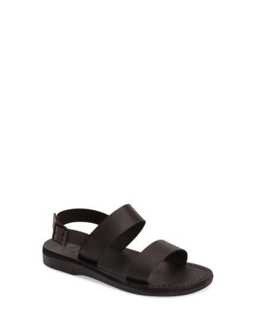 Jerusalem Sandals - Black 'golan' Sandal - Lyst
