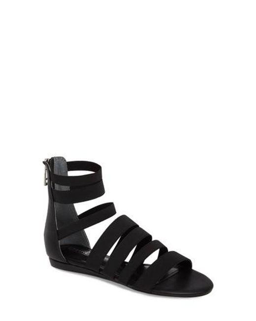 Charles David - Black Maide Elastic Gladiator Sandal - Lyst