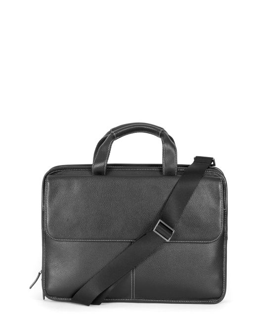 Boconi - Black Tyler Leather Briefcase for Men - Lyst