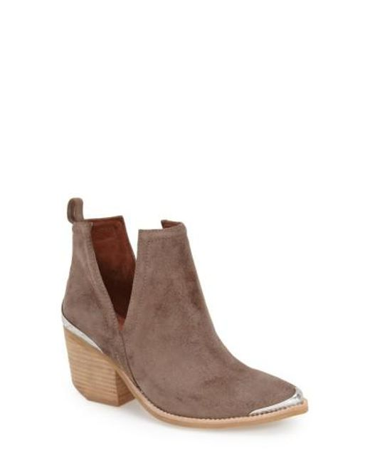 Jeffrey Campbell - Brown Cromwell Cut-Out Suede Western Boots - Lyst