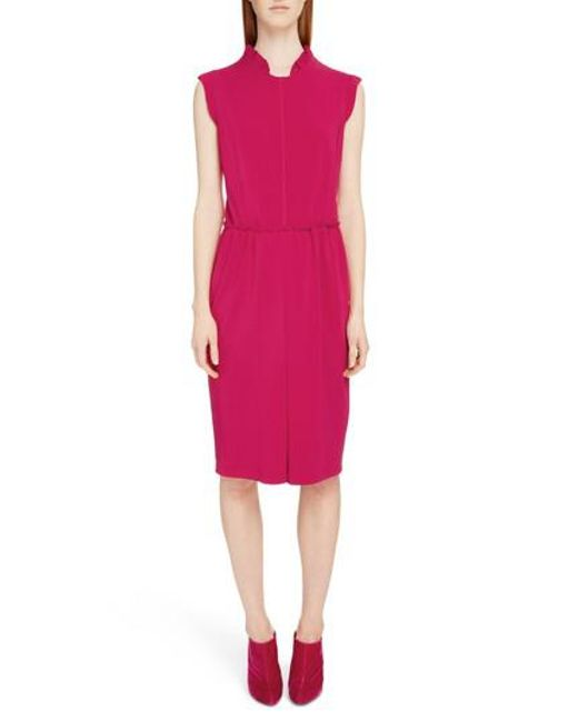 Visit Cheap Online Fuchsia dress with ruffle sleeves Givenchy Online Cheapest  Many Kinds Of Online Excellent ZhgzQiszc