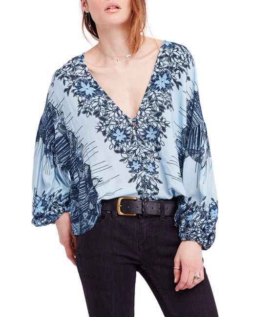 Free People - Blue Birds Of A Feather Top - Lyst