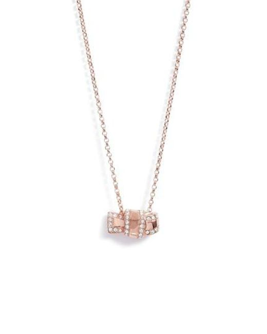 Kate Spade | Metallic All Tied Up Pave Pendant Necklace | Lyst