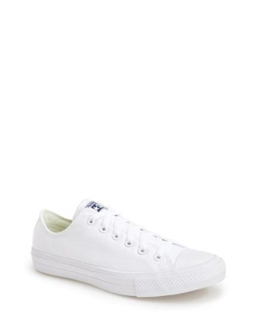 Converse | White Chuck Taylor All Star Ii 'ox' Canvas Sneaker for Men | Lyst