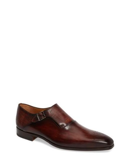 Magnanni Shoes | Brown Saburo Monk Strap Shoe for Men | Lyst