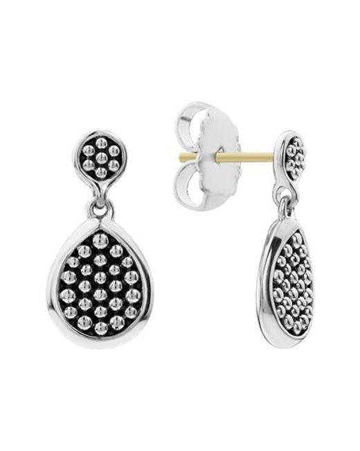 Lagos - Metallic Signature Caviar Flat Drop Earrings - Lyst