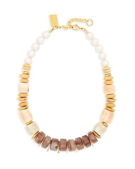 Lizzie Fortunato - Multicolor Pink Sands Freshwater Pearl Collar Necklace - Lyst