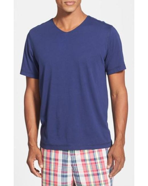 Daniel Buchler - Blue V-neck Peruvian Pima Cotton T-shirt for Men - Lyst