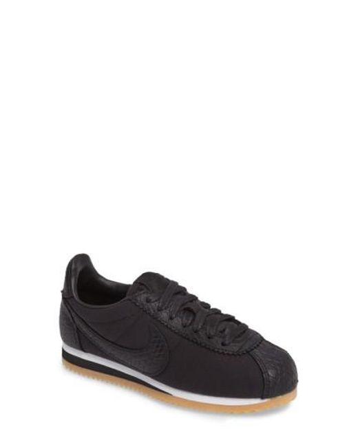 Nike | Black Classic Cortez Se Sneaker for Men | Lyst