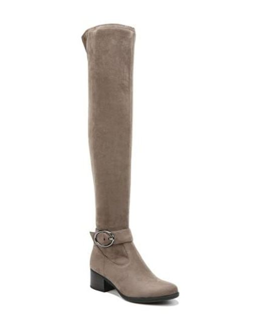 Naturalizer - Gray Dalyn Over The Knee Boot - Lyst