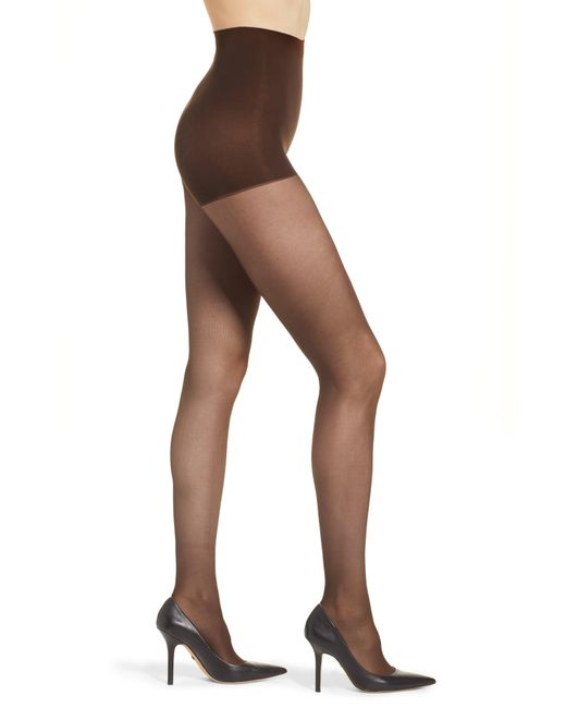 DKNY - Brown Light Opaque Control Top Tights - Lyst