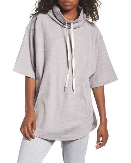 Zella   Gray Get It Girl Pullover   Lyst