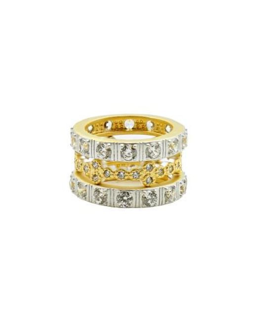 Freida Rothman | Metallic Set Of Three Stacking Rings | Lyst
