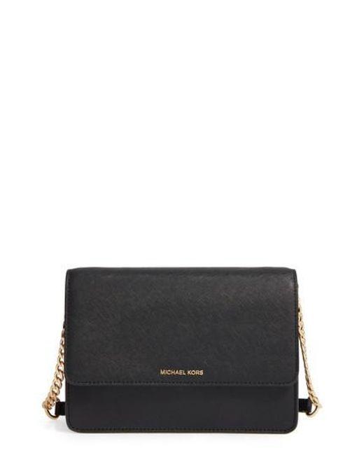 MICHAEL Michael Kors | Black Large Daniela Leather Crossbody Bag | Lyst