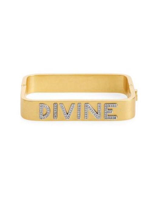 Tory Burch | Metallic Divine Message Rectangular Bracelet | Lyst
