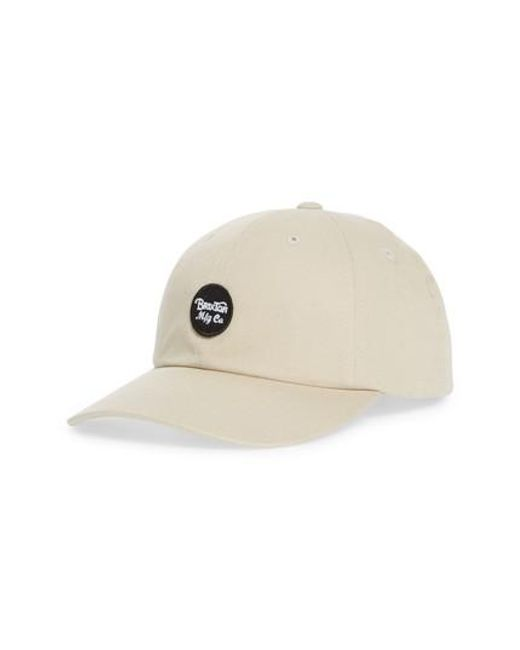 3cf4bfb4a57 ... canada brixton natural wheeler dad ball cap for men lyst 352b0 85033