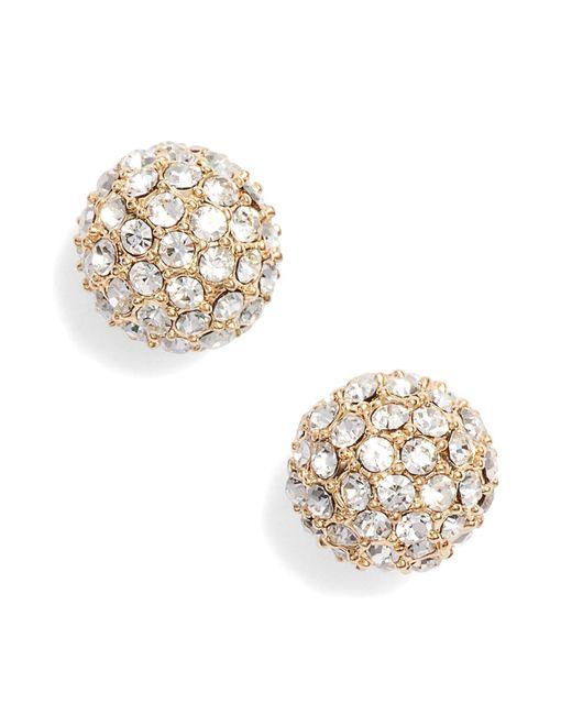 Nordstrom - Metallic Pave Sphere Stud Earrings - Lyst