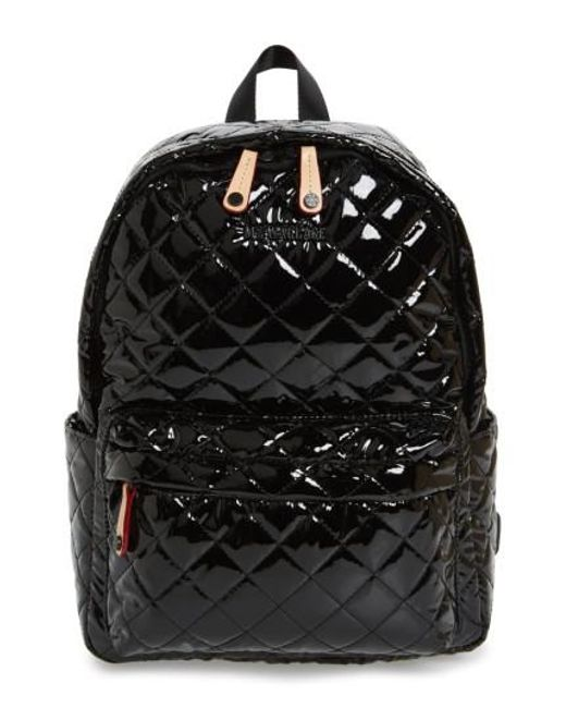 MZ Wallace | Black 'small Metro' Quilted Oxford Nylon Backpack | Lyst