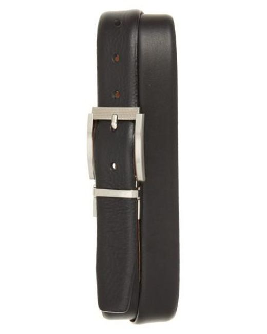 Ted Baker | Black Reva Reversible Leather Belt for Men | Lyst