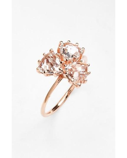 Suzanne Kalan | Pink Triple Trillion Stone Ring | Lyst