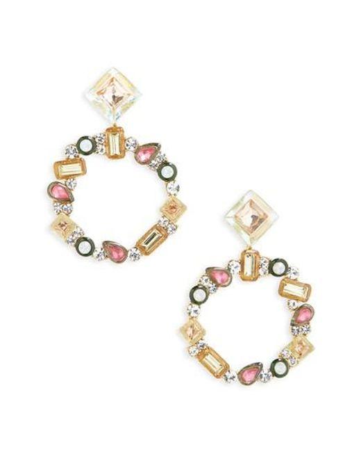 BaubleBar | Metallic Leora Hoop Earrings | Lyst
