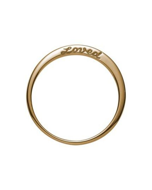 Nora Kogan - Metallic Loved Side Script Ring - Lyst