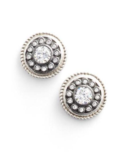Freida Rothman - Metallic 'nautical Button' Stud Earrings - Lyst