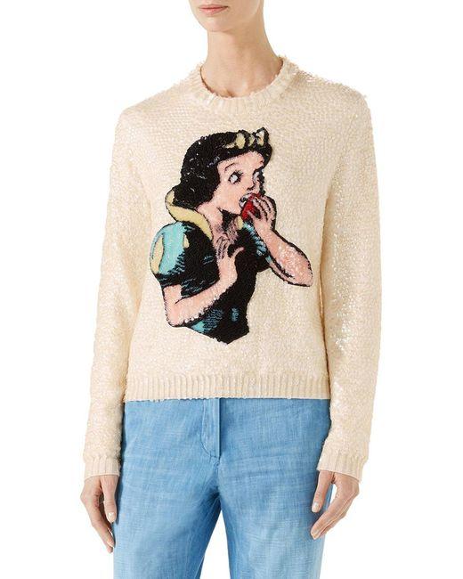 9ad454a034e Gucci - Multicolor Snow White Sequin   Wool Sweater - Lyst ...