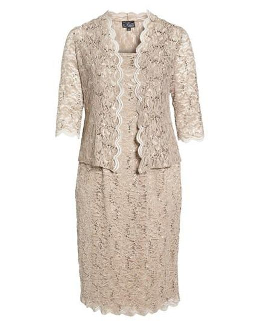 Alex Evenings | Metallic Lace Dress & Jacket | Lyst