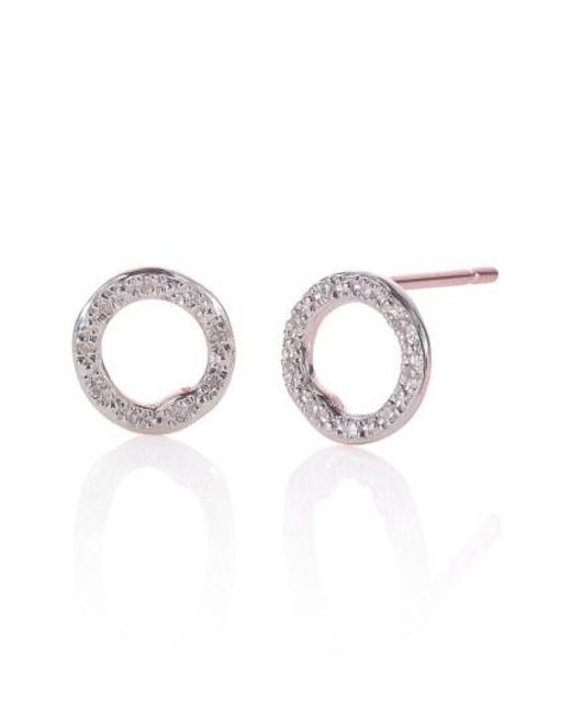 Monica Vinader | Metallic 'riva' Circle Stud Diamond Earrings | Lyst