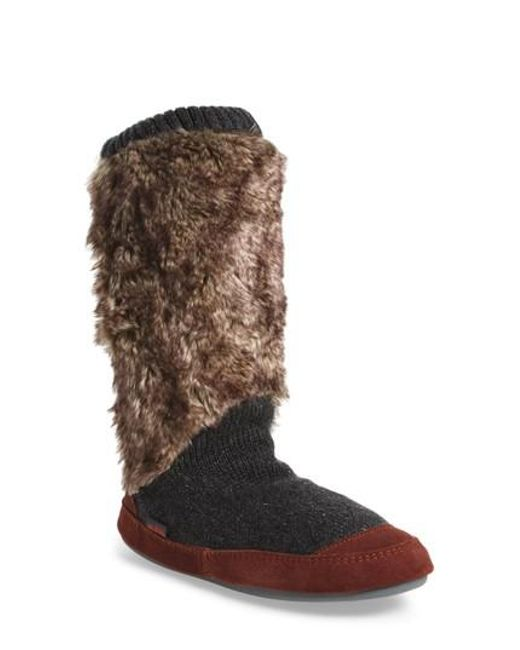 Acorn - Red Slouch Slipper Boot - Lyst