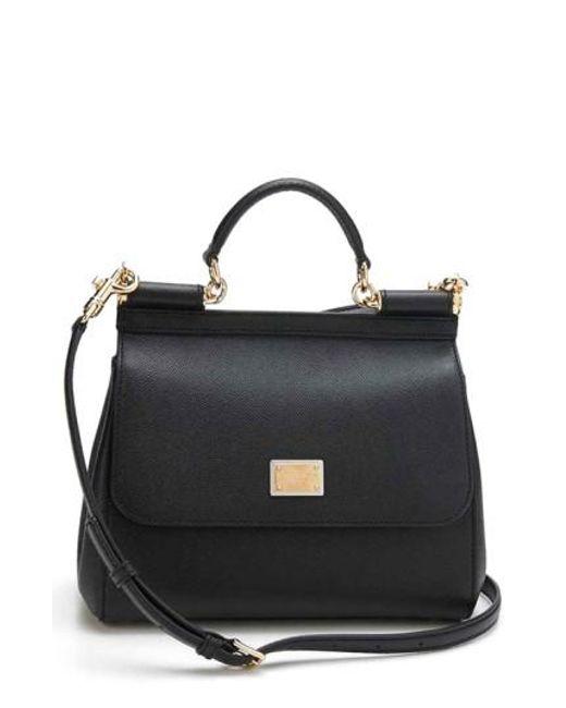 Dolce & Gabbana - Black 'small Miss Sicily' Satchel - Lyst