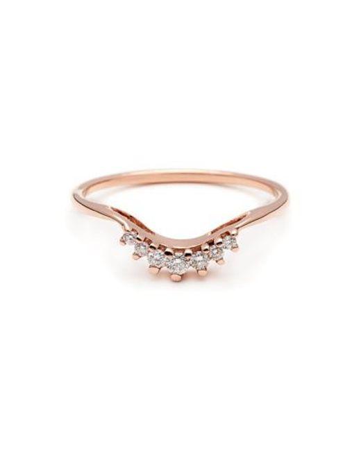 Anna Sheffield   Pink 'luna Tiara' Diamond Ring   Lyst