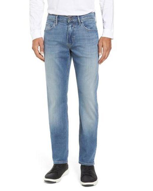 PAIGE | Blue Transcend - Federal Slim Straight Fit Jeans for Men | Lyst