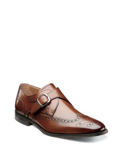 Florsheim - Brown 'sabato' Wingtip Monk Strap Shoe for Men - Lyst