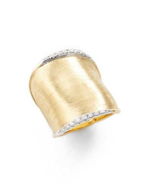 Marco Bicego - Yellow 'lunaria' Diamond Ring - Lyst
