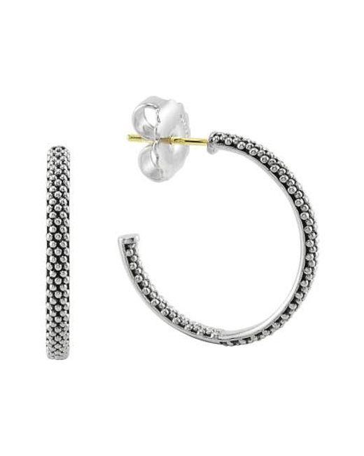 Lagos - Metallic Caviar Hoop Earrings (online Only) - Lyst