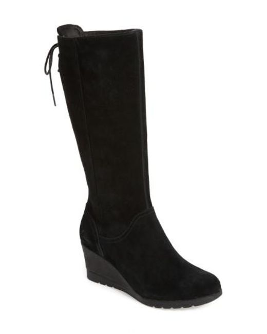 cf509d56c7f1 ... new zealand ugg black ugg dawna water resistant wedge boot lyst 8cc13  a776a