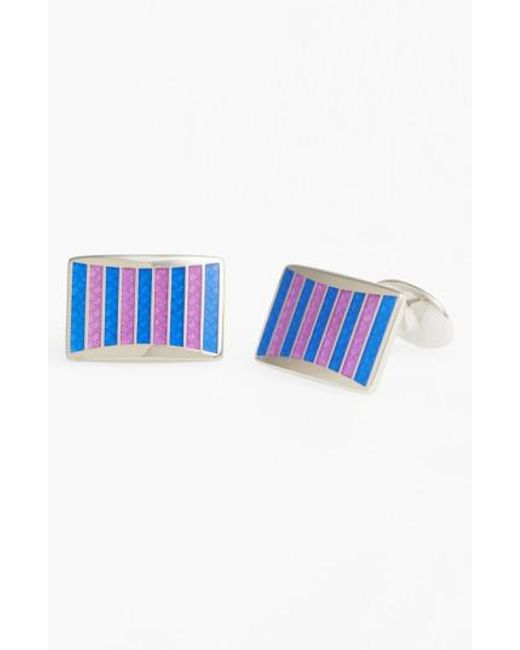 David Donahue | Purple Enamel Cuff Links for Men | Lyst