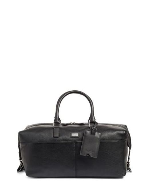 Ted Baker | Black Leather Duffel Bag for Men | Lyst