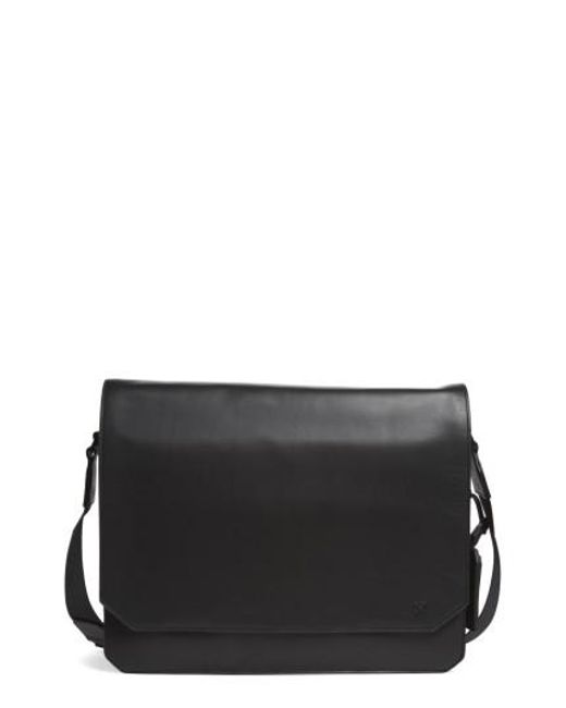 Vince Camuto | Black 'tolve' Leather Messenger Bag for Men | Lyst