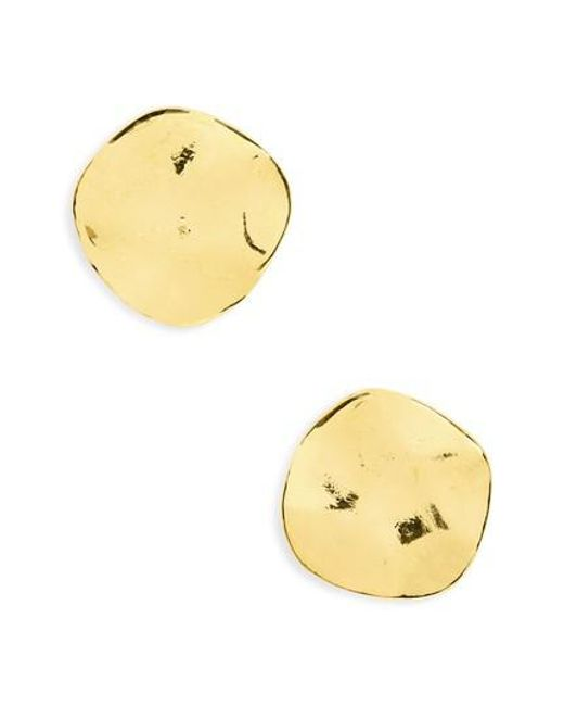 Gorjana | Metallic 'chloe' Small Stud Earrings | Lyst