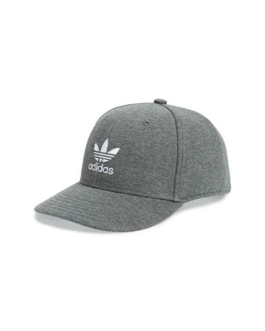 Lyst - Adidas Originals Trefoil Snapback Baseball Cap in Blue for Men 5b31be817c88